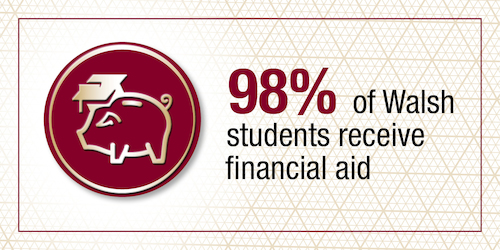 98% of Walsh students receive financial aid