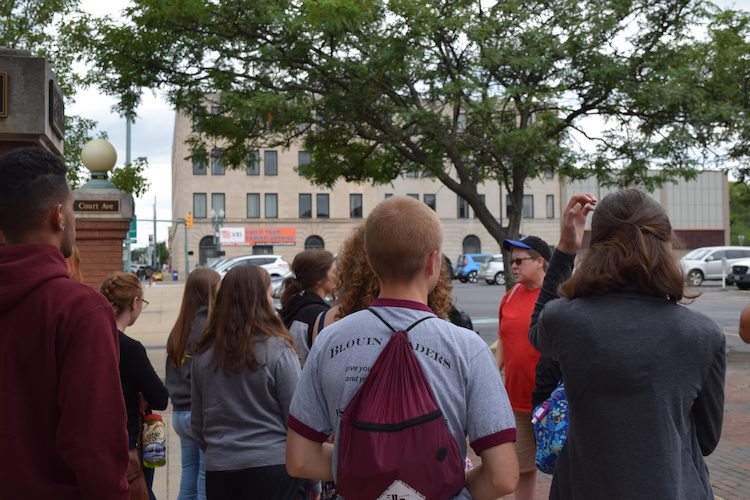 Blouin Leaders Touring Downtown Canton with Julie Sparks, Director of iCAN Housing