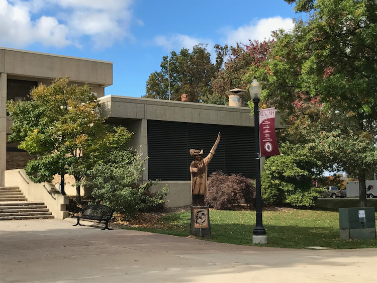 Walsh University Cavalier Sculpture by Dan Kidd