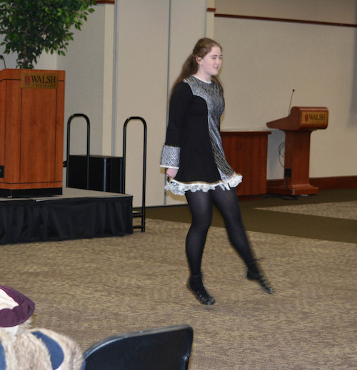 Mairead Cooney performs a traditional Irish Dance