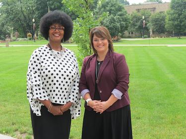 Dr. Edna McCulloh and Rachel Hosler