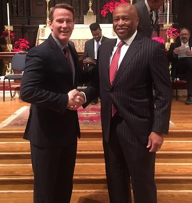 Lt Governor John Husted and Michael Douglas