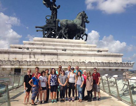 Art History Students in Rome