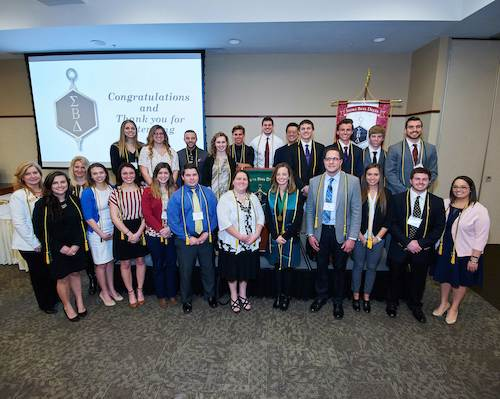 Members of the Sigma Beta Delta Business Honors Society