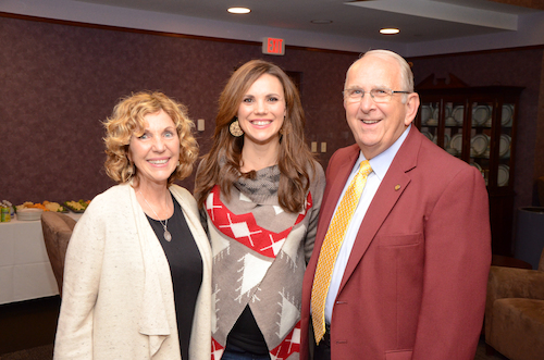 First Lady Terie, Leah Darrow and President Richard Jusseaume